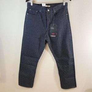 NWT Levi's Wedgie Straight Jeans High Rise Blue White Stripe Women's Size 31x28